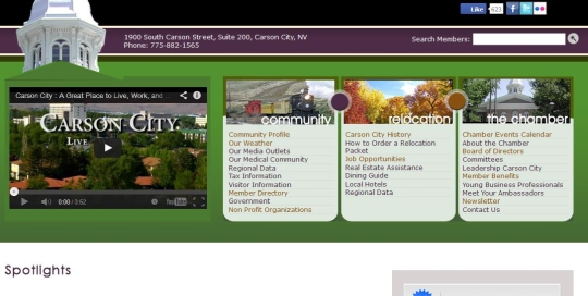 Carson City Chamber of Commerce Home Page